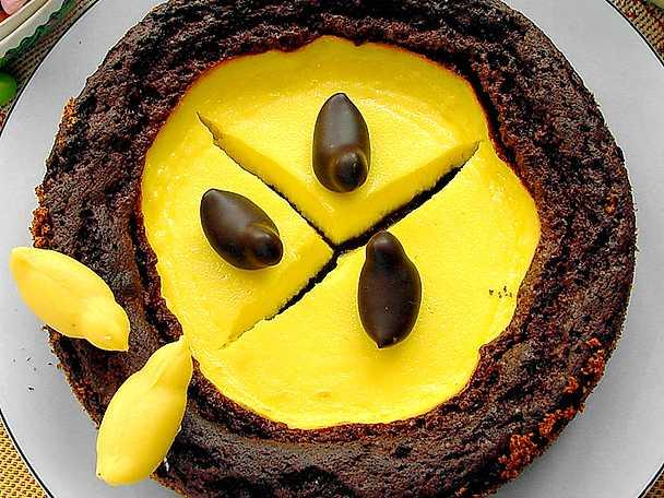 Choklad- och cheesecaketårta