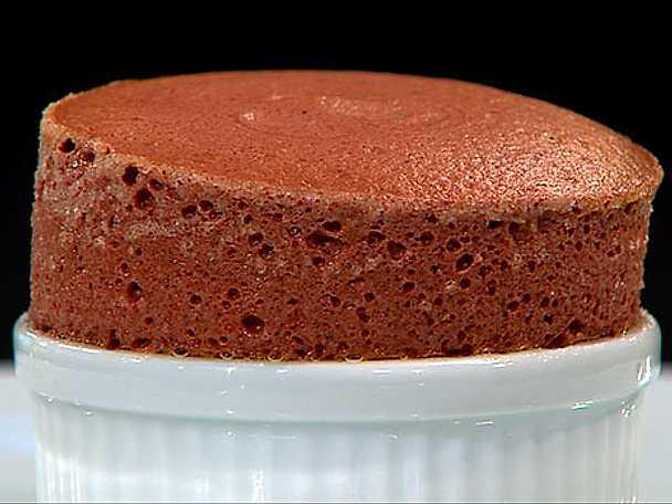 Choklad- och hallonsufflé