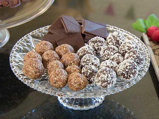 Choklad och pepparkaksbollar