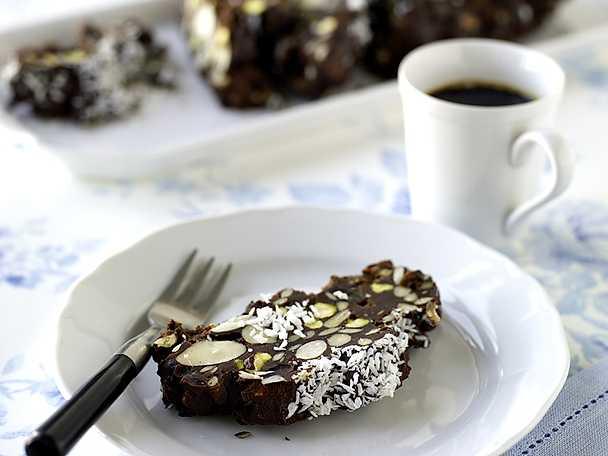 Chokladbars med nötter och frön