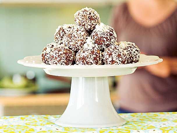 Raw chokladbollar utan dadlar