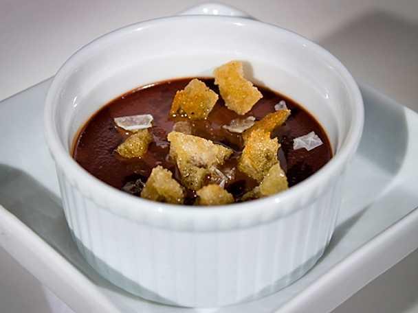 Chokladcreme med olivolja och salt