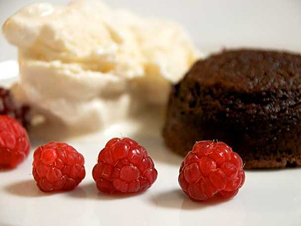 Chokladfondant med limecrème