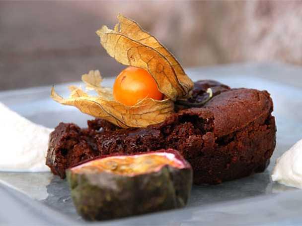Chokladfondant spetsad med mörk karibisk rom