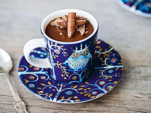 Chokladmousse på vatten och rom