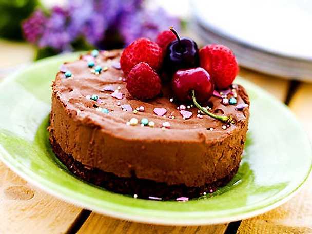 Chokladmoussetårta på mörk choklad