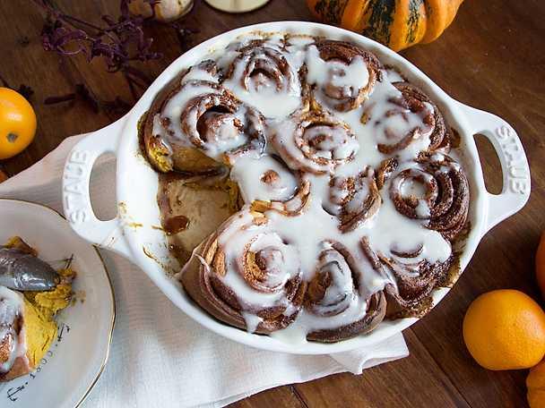 Cinnamon rolls med pumpa
