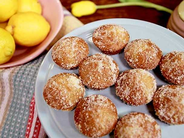 Citronkakor med lemon curd