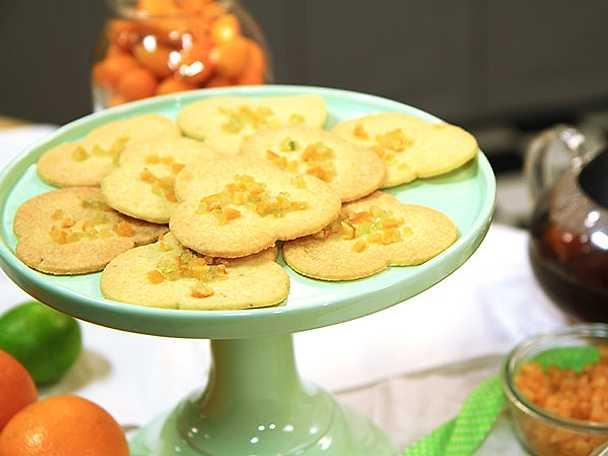 Citronkakor (shortbreads)