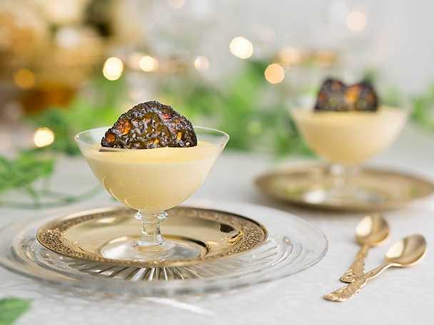 Citronmousse med lakritsflarn