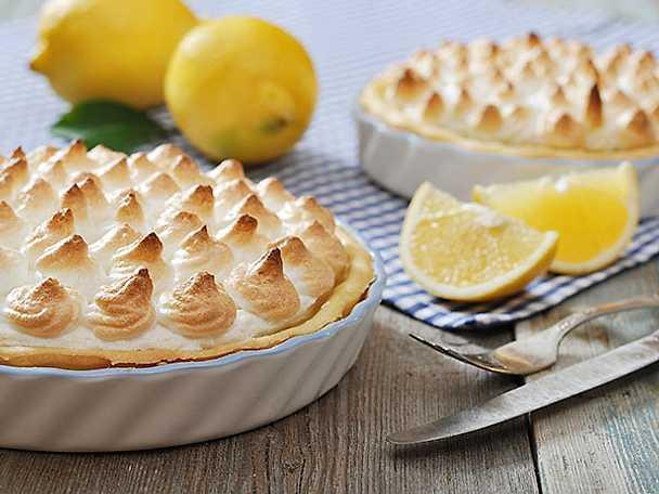 Citronpaj med italiensk maräng
