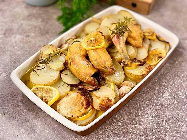 Citronrostad potatis med rosmarin och kyckling
