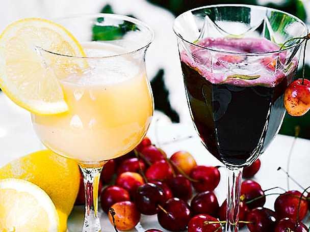 Citrusdrink och körsbärsdrink