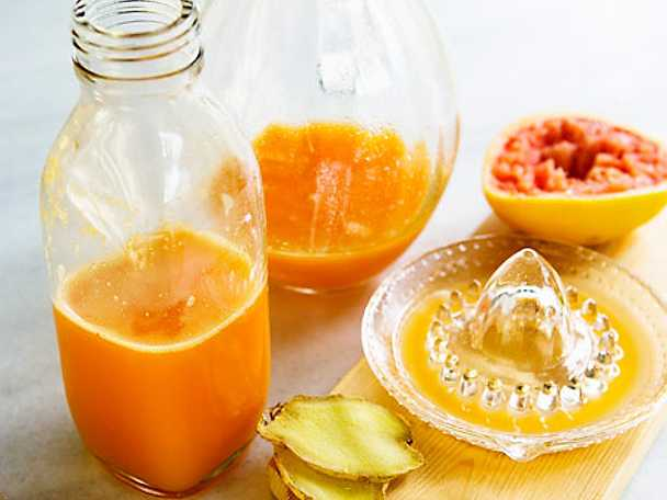 Cold fighter - juice med blodgrape, apelsin och ingefära