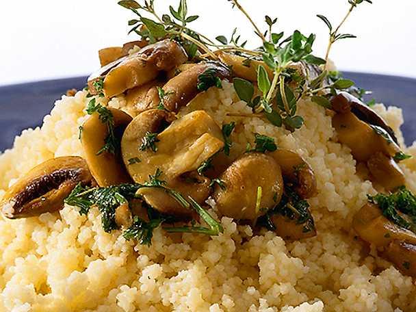 Couscous med champinjoner