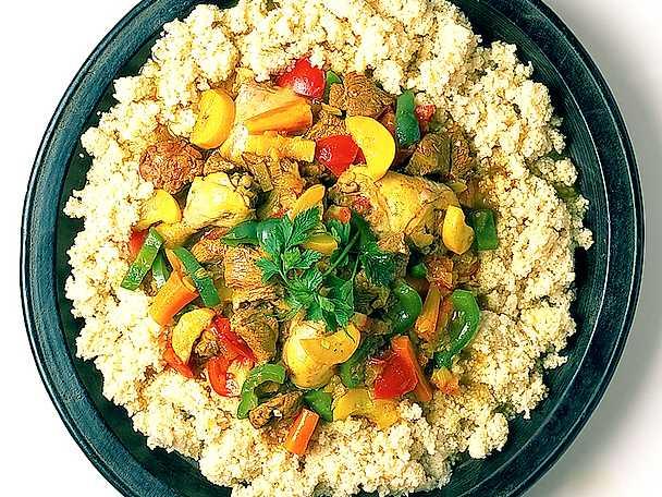 Couscous med kyckling och lamm