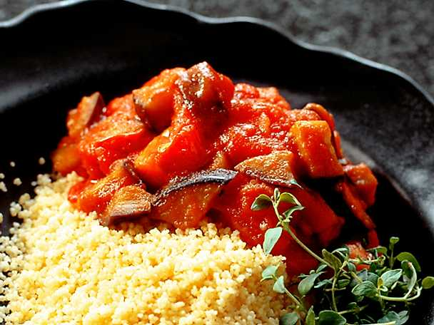 Couscous med ratatouille