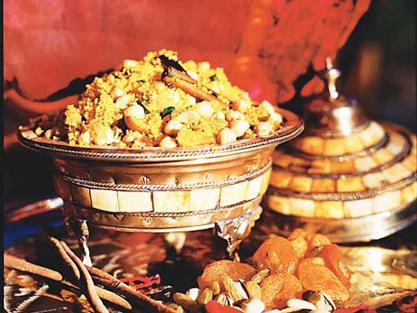 Couscous med torkad frukt