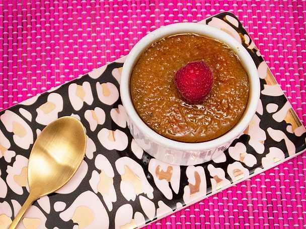 Crème brulée med smak av kokos