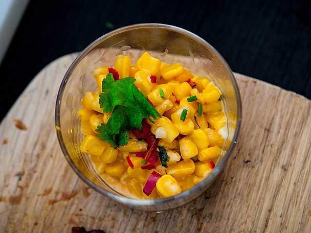 Creamed corn med chili och koriander