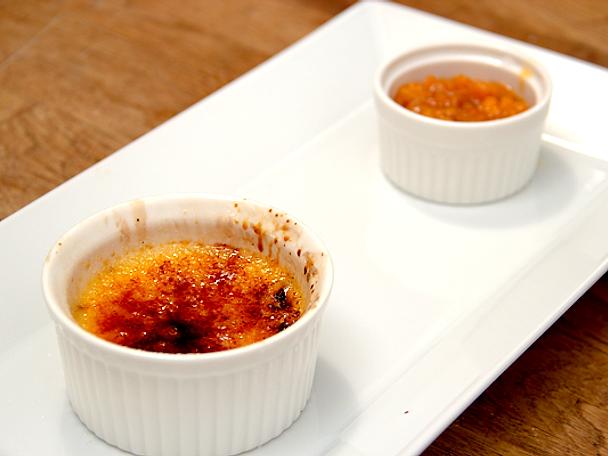 Crème brûlée med hjortron
