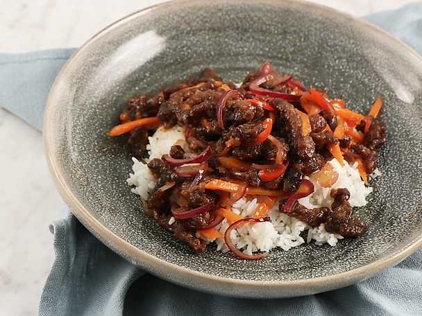 Crispy orange beef