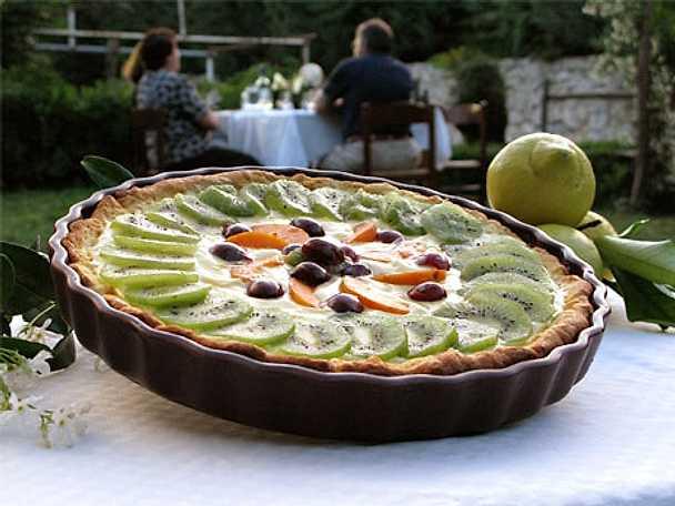 Crostata con frutta fresca - Dessertpaj med färska frukter