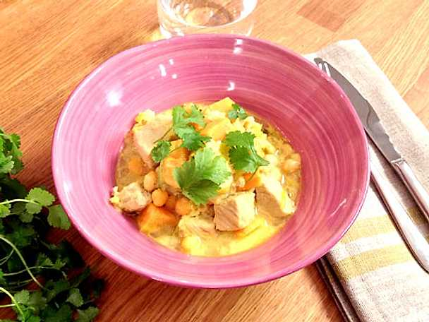 Currygryta med fläskkotletter