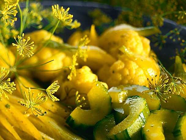 Dillkokta grönsaker