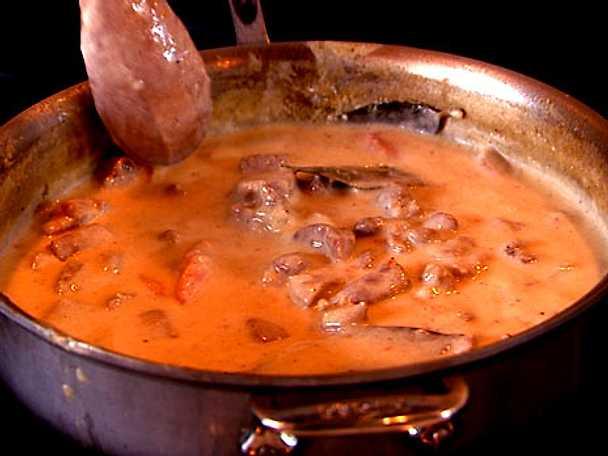 Dillkött med pressad potatis