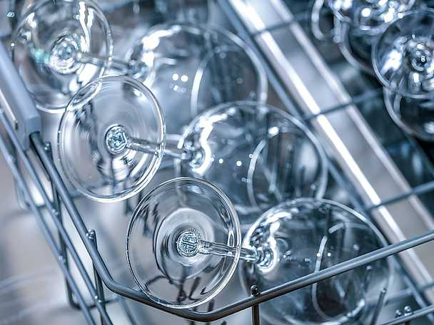 Diskmaskin glas