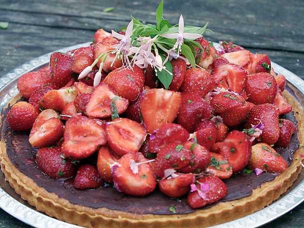 Drömpaj med jordgubbar