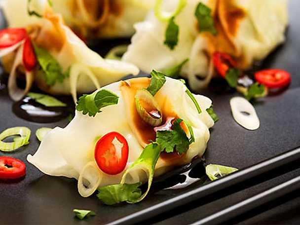 Dumplings med kyckling eller fläsk