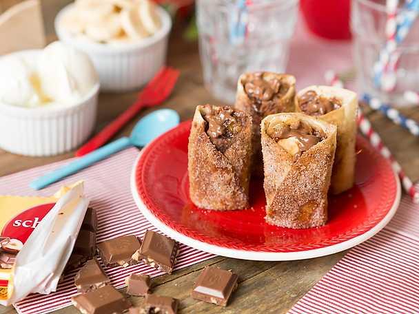 Enchiladas med banan och mjölkchoklad NY