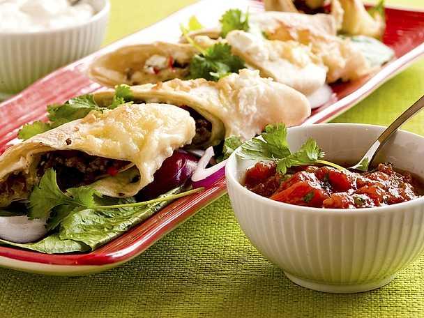 Enchiladas med tre ostar