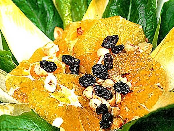 Endive- och apelsinsallad