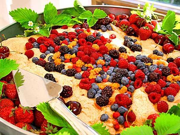 Ernsts sommartårta i långpanna