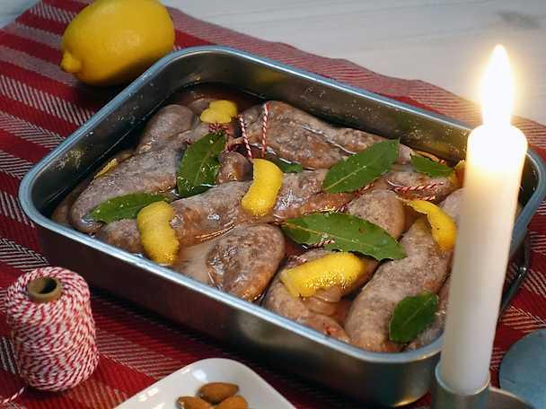 Ernsts vilda julkorv med smak av örter, ingefära och porter