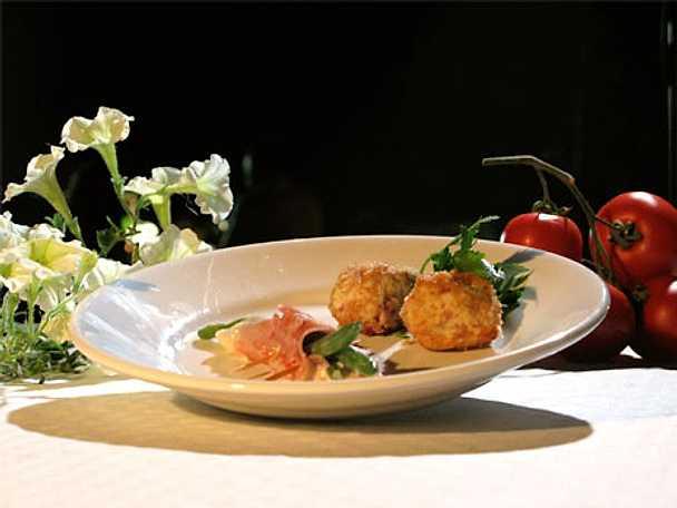 Fagiolini con prosciutto e formaggio - haricotsverts med skinka och ost