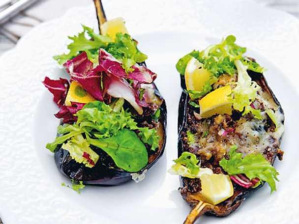 Färsfyllda auberginer