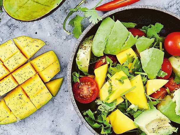 Färsk mangochutney med lime och koriander