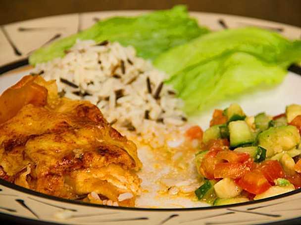 Färska kycklingbröst med rödgrön salsa