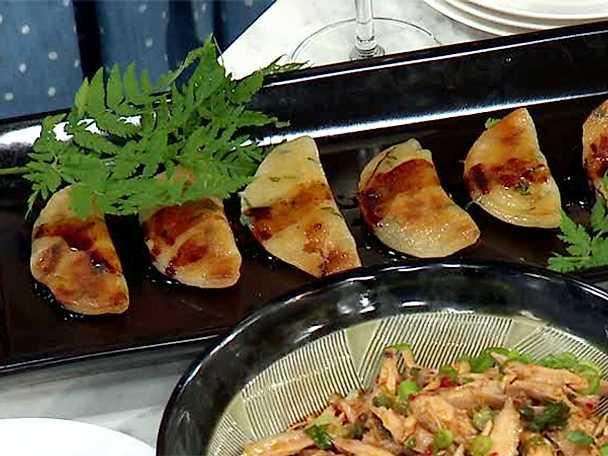 Fastnat i pannanknyten med rotselleri, champinjoner och zucchini