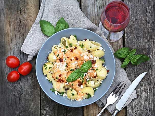 Felix Vegetarisk pasta med rosa sås