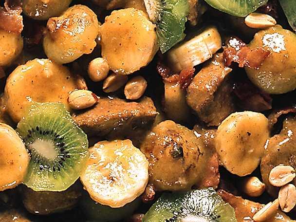 Filégryta med banan och kiwi