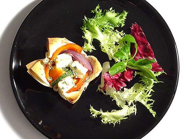 Filopajer med grönsaksfyllning