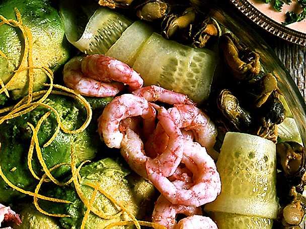 Fin skaldjurssallad