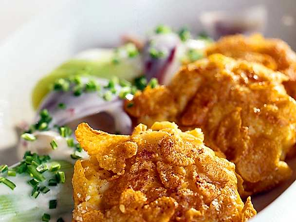 Fiskfilé panerad i cornflakes