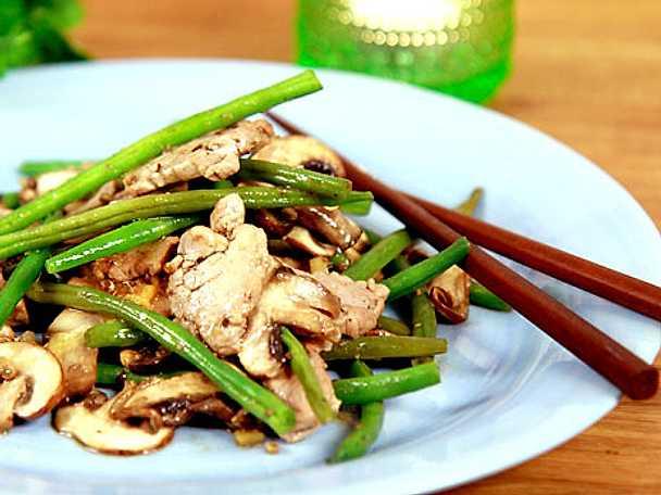 Fläskfilé i asiatisk wok