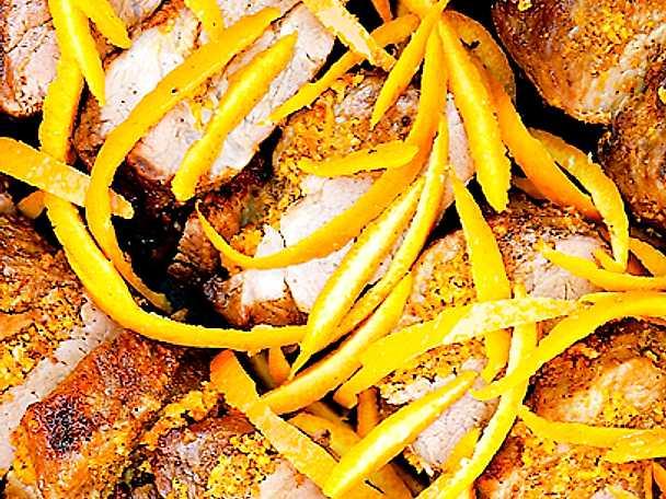 Fläskfilé med apelsinsås